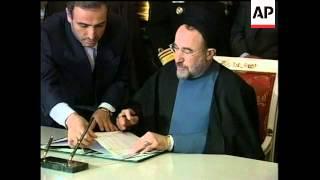 Russia: Khatami 2: Iranian President Mohammad Khatami visit