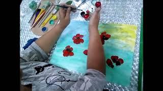 Рисуем вместе картину «Маки» проводит Гордеева Татьяна Александровна.