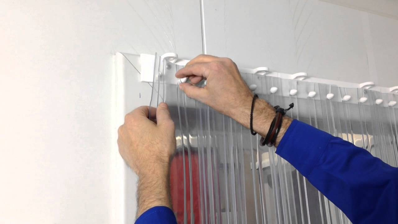 Strip curtains PVC  installation  YouTube
