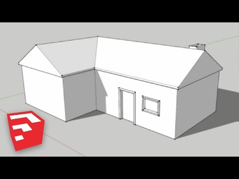 Sketchup 8 lessons making a simple house youtube for How to draw up house plans