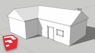 SketchUp 8 Lessons: Making a Simple House(In this tutorial I go over how to make a simple house, introducing the offset and follow me tools. I also explain inferencing a little better and show you how to skew ..., 2013-01-27T21:07:34.000Z)