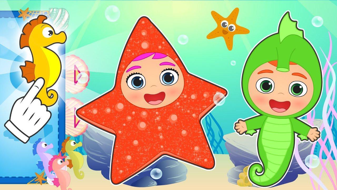 BEBÉS ALEX Y LILY 🤿🌊 se disfrazan de Estrella y Caballito de Mar ✨ Animales marinos