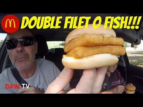 McDonald's Double Filet O Fish!!!