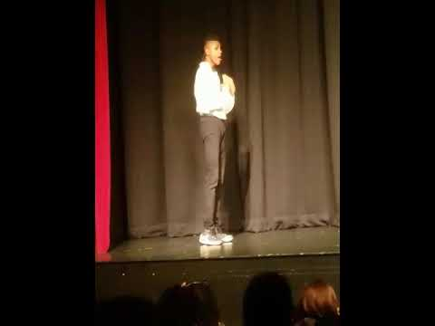 """Joseph Torres at Vance High Theatre and Arts performing """"Agony"""" from Into the Woods"""
