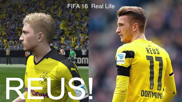 MARCO REUS IN FIFA 16 AND PES 2016! (Face Review) #37 - YouTube