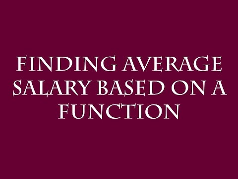Finding Average Salary Based on a Linear Regression Function