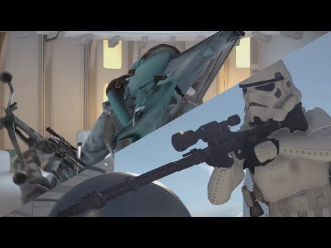 Star Wars Battlefront: Abomination killstreak and setting up with DLT-19X and Blaster cannon!