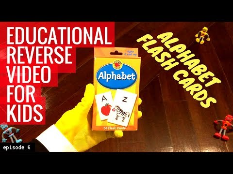 Alphabet Flash Cards - Capital Letters- Educational Reverse Video For Kids