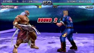 Tekken: Dark Resurrection (PSP) Story Battle as Jinpachi