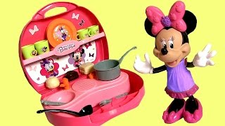 Minnie's Mini Kitchen BowTique using Play Doh Disney Minnie Mouse Bowtique
