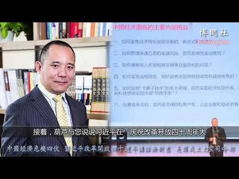 葫芦:中国经济危机四伏 习近平四十周年讲话无新意