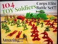Plastic Army Men Epic Robot Battle!! The Corps Elite Set Tank Helicopter Marine war Toy Soldier