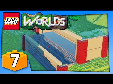 Lego Worlds Gameplay - CUSTOM LEGO GARAGE PART 1 - PC Walkthrough Part 7 | Pungence