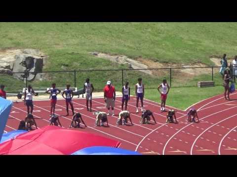 RunUXpress Kayla D 11.73MR  Ariana R 12.33 100m Final Jim Law 6.18.17