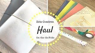 Erin Condren Haul   On the Go Folio & Stickers  