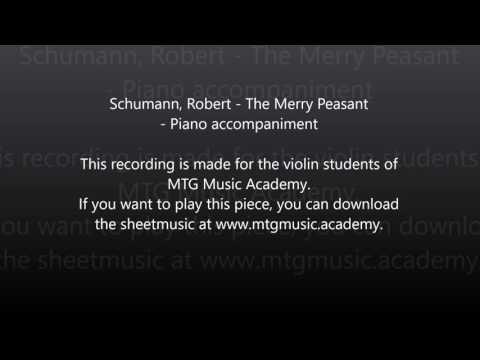 Schumann, Robert - The Merry Peasant - Piano accompaniment (96 BPM)