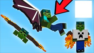 ZOMBIE MARK BELIEVES HE CAN FLY !! Minecraft !!