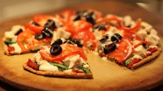 Pizza Crust Made from Quinoa - Healthy Gluten Free Recipe!