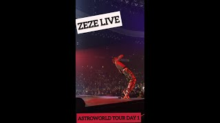 TRAVIS SCOTT PREFORMING ZEZE LIVE @ BALTIMORE (FIRST ASTROWORLD TOUR DATE)