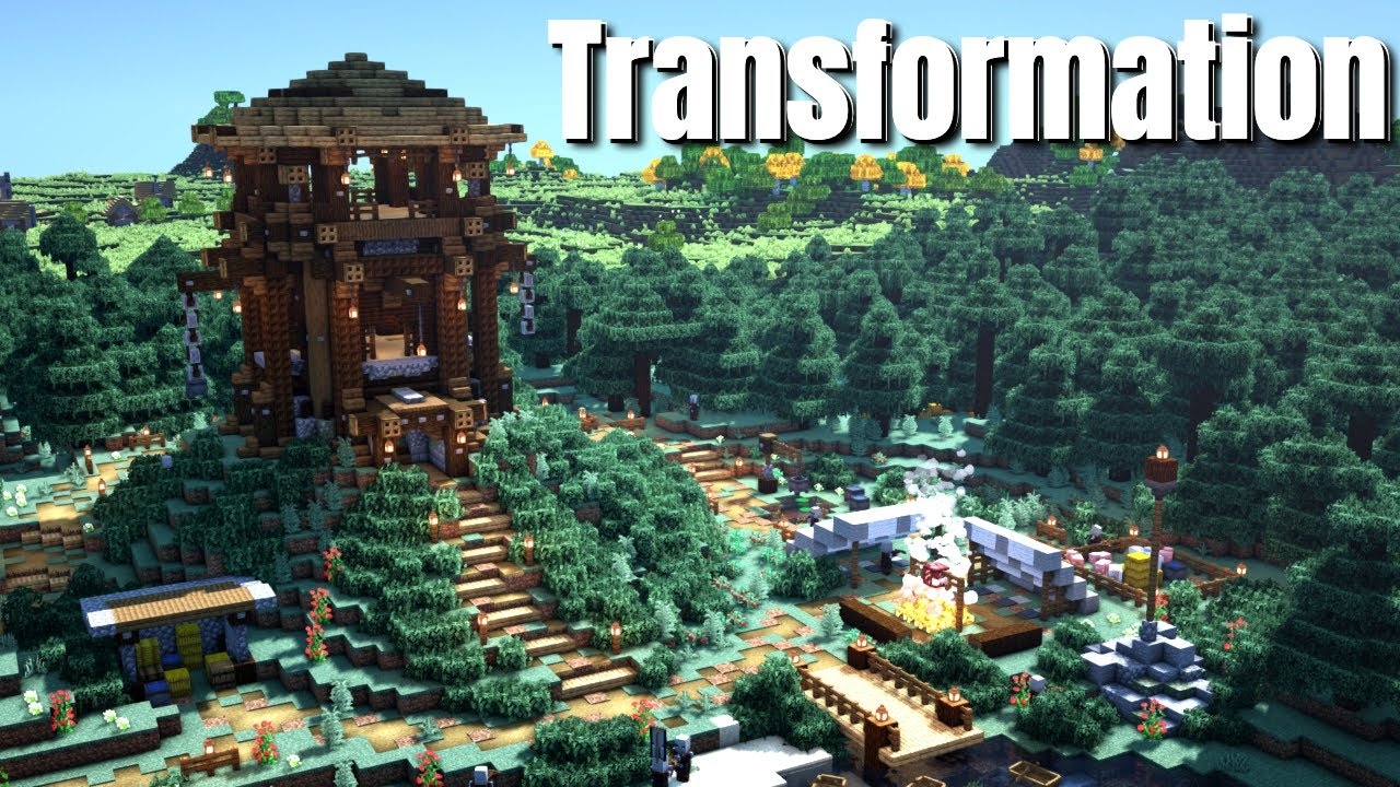 Pillager Outpost Transformation | World Download of a Customised World (Bedrock and Java) 2021