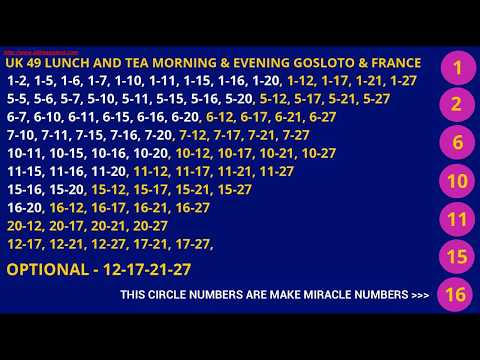UK49  PREDICTED LOTTO NUMBERS WIN LOTTERY GOSLOTO FRANCE LOTO