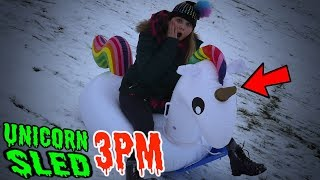 UNICORN SLEDDING AT 3PM!! *Lucky hour*