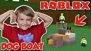 BUILD A DOG BOAT FOR TREASURE in ROBLOX (ANIMAL STRUCTURE BOAT)