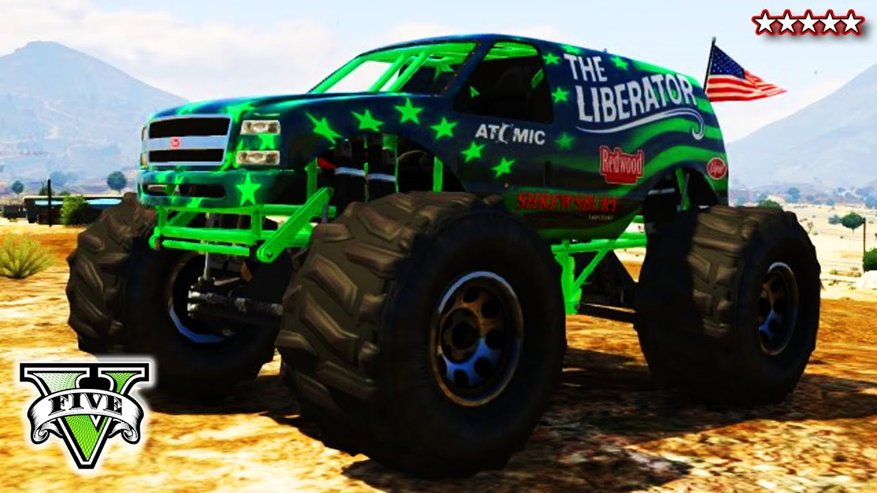 gta 5 liberating mount chiliad epic gta online monster truck climb grand theft auto v youtube. Black Bedroom Furniture Sets. Home Design Ideas