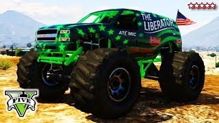 Gta 5 Liberating Mount Chiliad | Epic Gta Online Monster Truck Climb | Grand Theft Auto V
