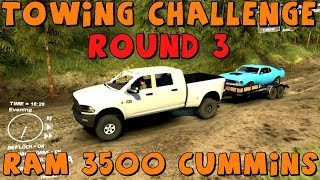 Spin Tires | Trailer Towing Challenge: Round 3 | Dodge Ram 3500 Cummins