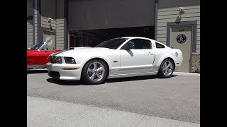 2007 Ford Mustang Shelby GT in Performance White & Engine Sound on My Car Story with Lou Costabile