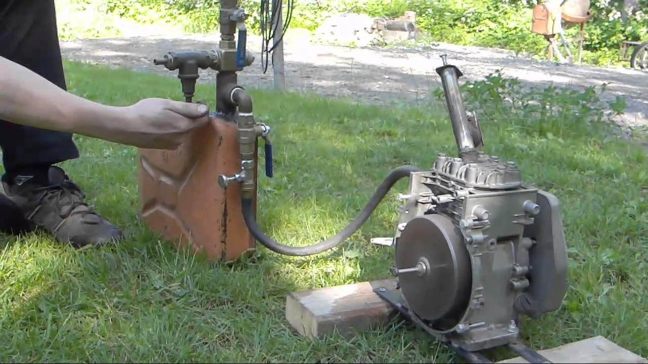 70cc 4 Stroke Engine Hot Tube Conversion With Gasoline Vapor Carburetor