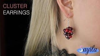 Sieraden maken - Cluster Earrings (DIY tutorial by Sayila)