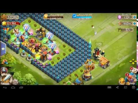 Castle Clash-Rolling F2p Gems And Opening Lvl 5 Talent Chest