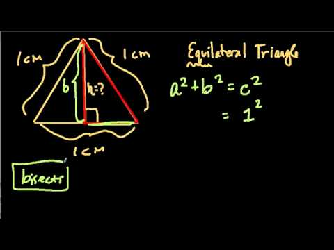Pythagorean Theorem And Equilateral Triangles Youtube