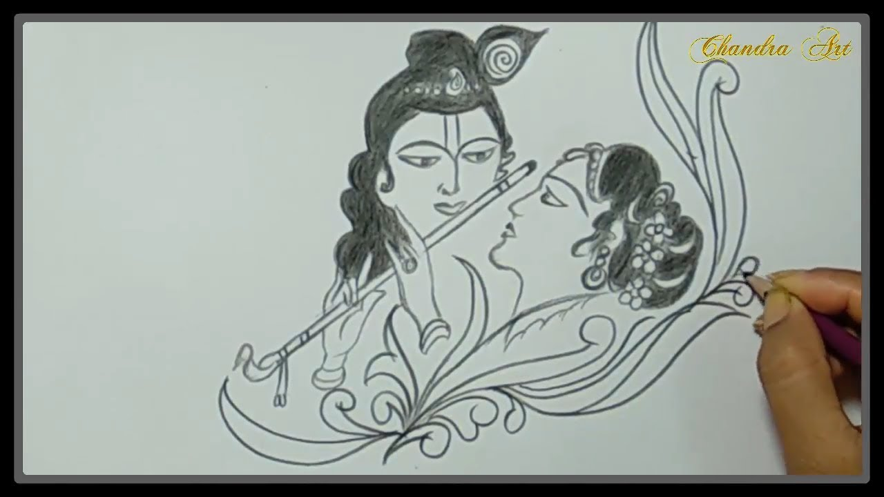 Radha Krishna Sketch Step By Step