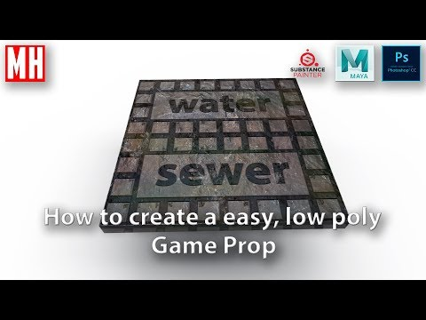 How to create, UV, Texture and Render a simple Game prop ( Manhole cover  )