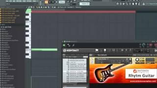 обзор библиотеки AntonovSamples   Rhythm Guitar для Kontakt 5