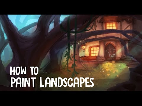 TIPS ON PAINTING LANDSCAPES IF YOU'RE A BEGINNER | Jenna Drawing