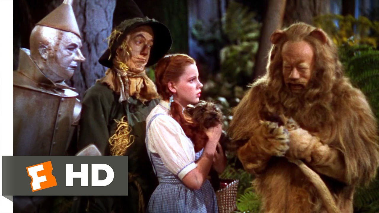 The Cowardly Lion - The Wizard of Oz (6/8) Movie CLIP (1939) HD ...