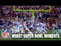 Top 5 Worst Super Bowl Moments of All Time | NFL NOW