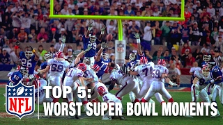 top 5 worst super bowl moments of all time nfl now