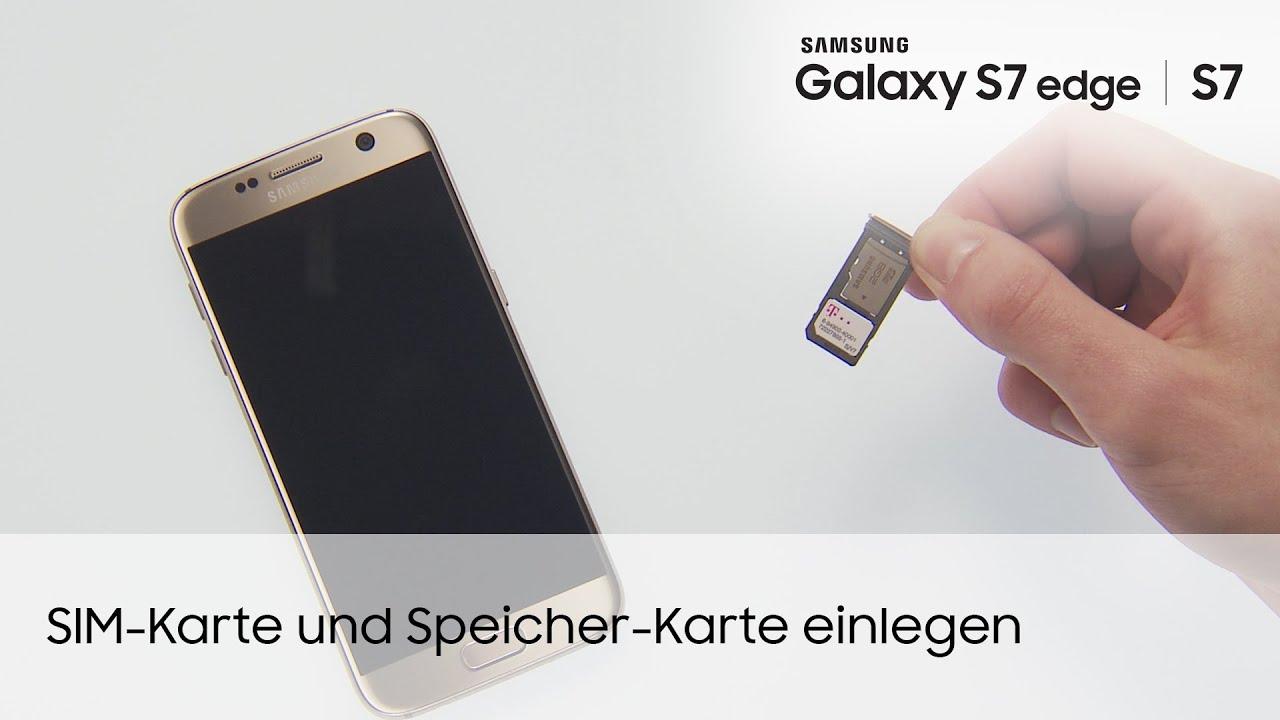 Samsung Galaxy S7 S7 edge SIM Karte und Speicher Karte einlegen
