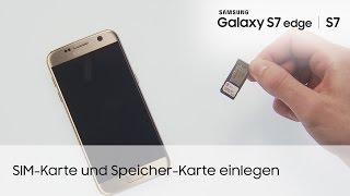 Samsung Galaxy S7 / S7 edge: SIM-Karte und Speicher-Karte einlegen