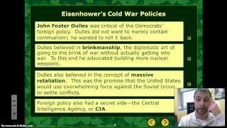 Cold War Video 4 - Eisenhower Administration