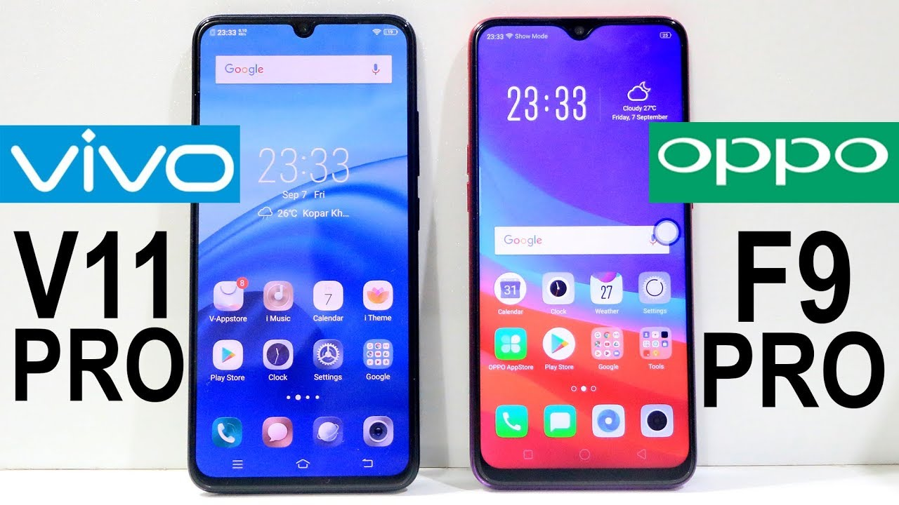 Vivo V11 Pro Vs Oppo F9 Pro Speed Test Youtube