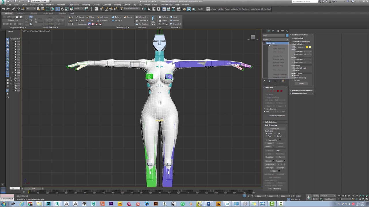 mirror vert weights issue (video link attached) skin modifier