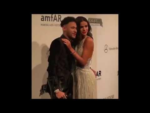 Neymar Jr and BRUNA MARQUEZINE amFAR making AID history