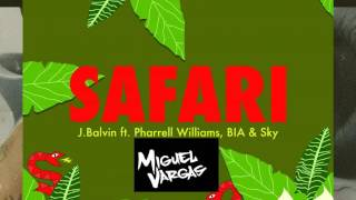 J Balvin Ft. Pharell Williams  - Safari - Miguel Vargas Remix