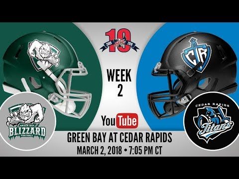 Week 2 | Green Bay Blizzard at Cedar Rapids Titans